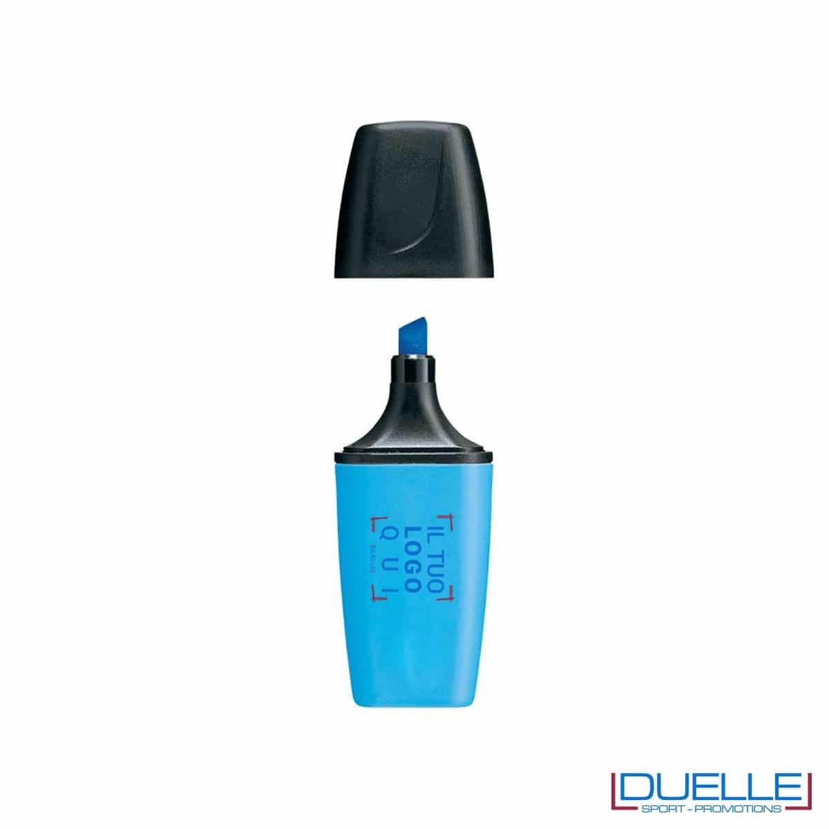 evidenziatore personalizzato stabilo boss mini colore blu, evidenziatori personalizzabili personalizzati mini blu