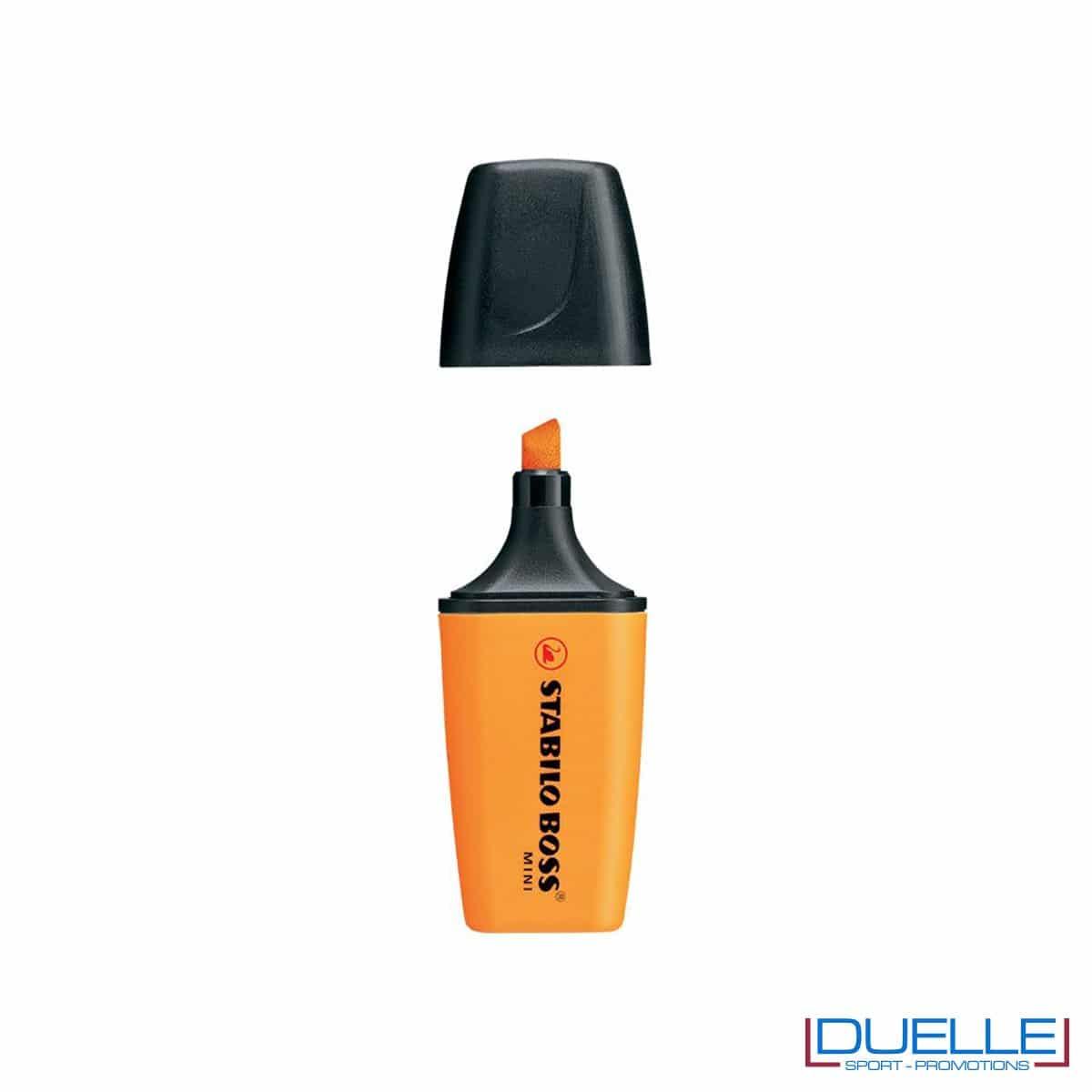 evidenziatore personalizzato stabilo boss mini colore arancione, evidenziatori personalizzabili personalizzati mini arancioni
