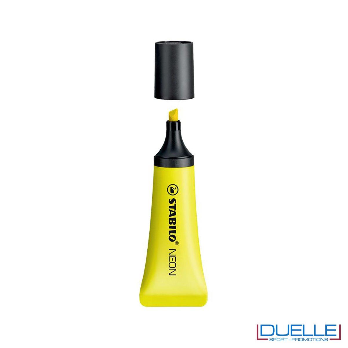 evidenziatore personalizzato stabilo NEON colore giallo, evidenziatori promozionali personalizzati gialli STABILO