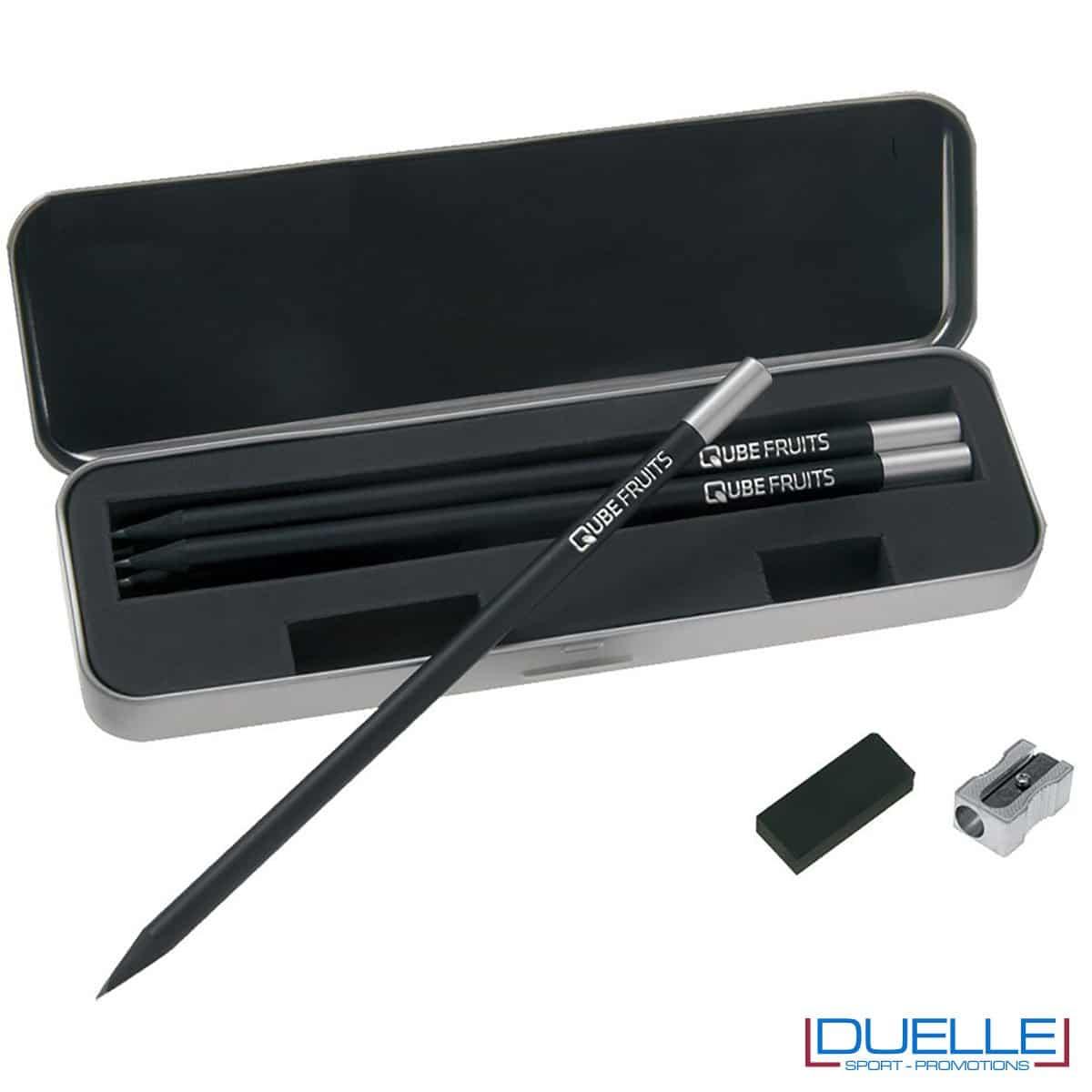 set matite personalizzato stabilo black box, matite personalizzabili promozionali stabilo