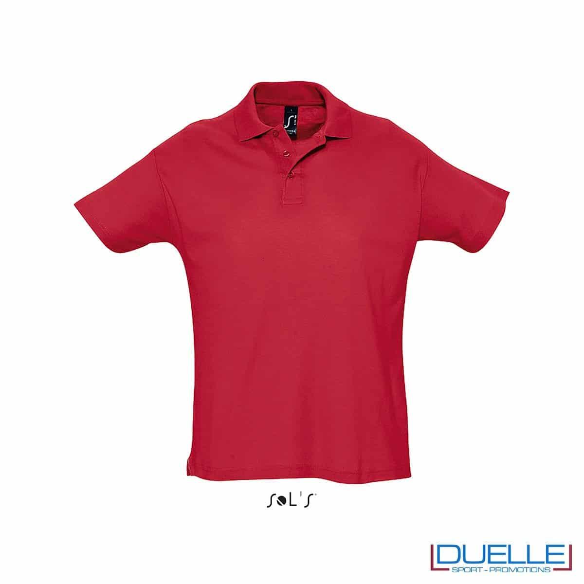 polo personalizzata colore rosso, polo piquet personalizzata
