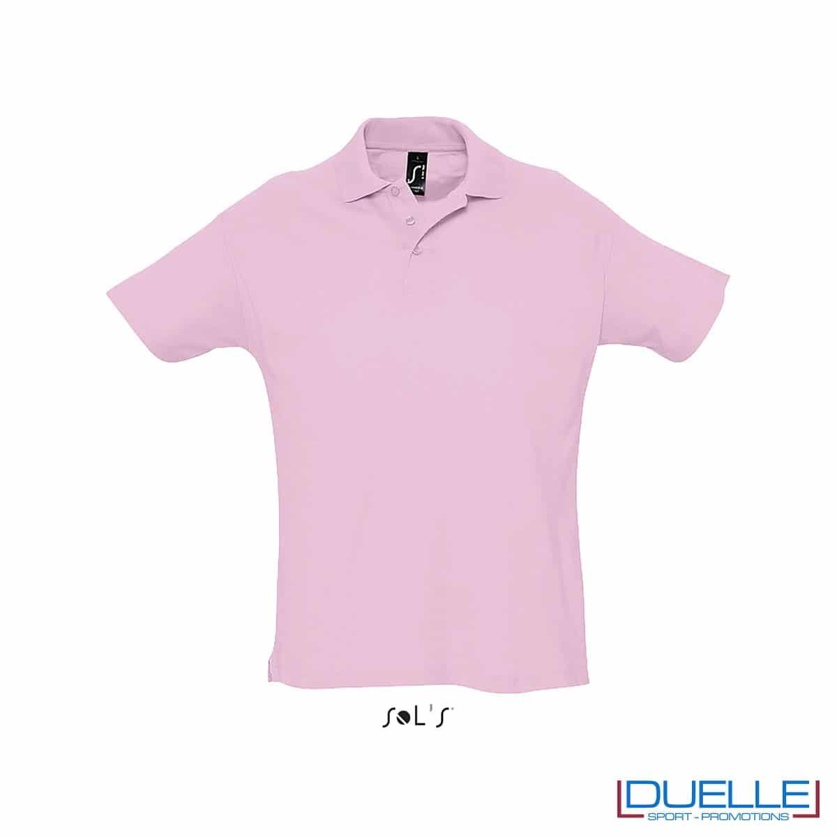 polo personalizzata colore rosa, polo piquet personalizzata