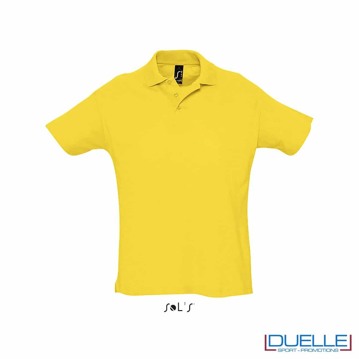 polo personalizzata colore giallo, polo piquet personalizzata