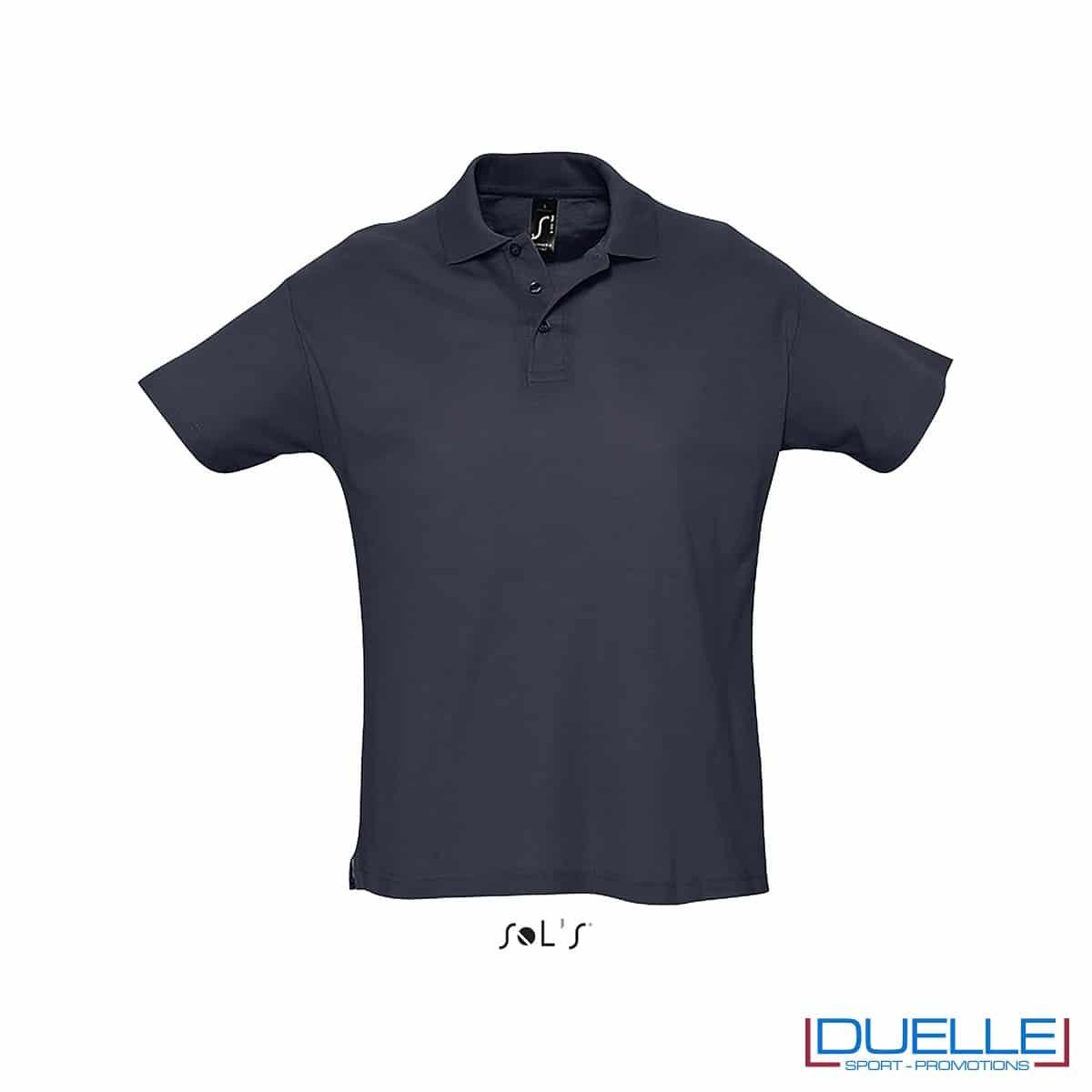 polo personalizzata colore blu navy, polo piquet personalizzata