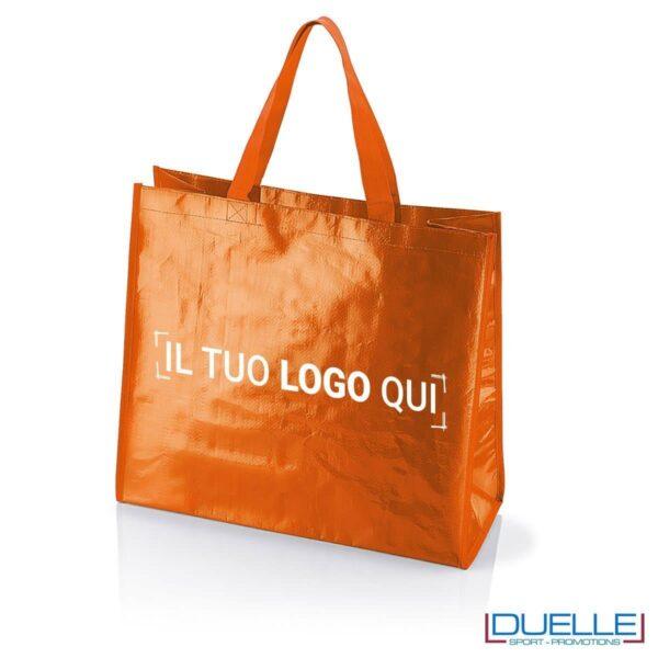 Shopper personalizzata il polipropilene arancione