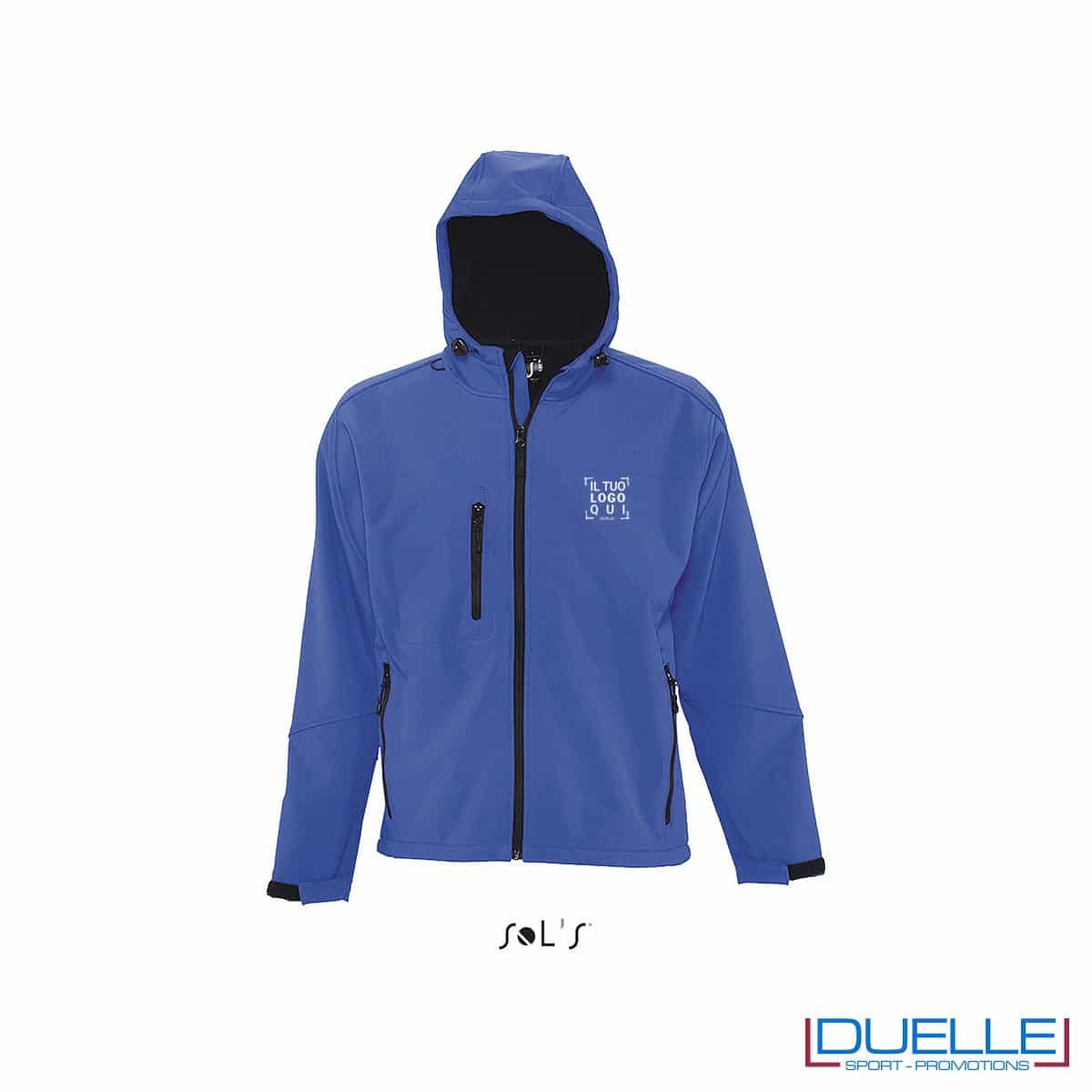 softshell personalizzato in colore blu