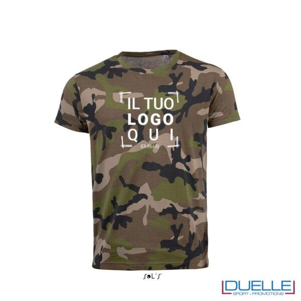 t-shirt personalizzata camouflage, abbigliamento promozionale personalizzato