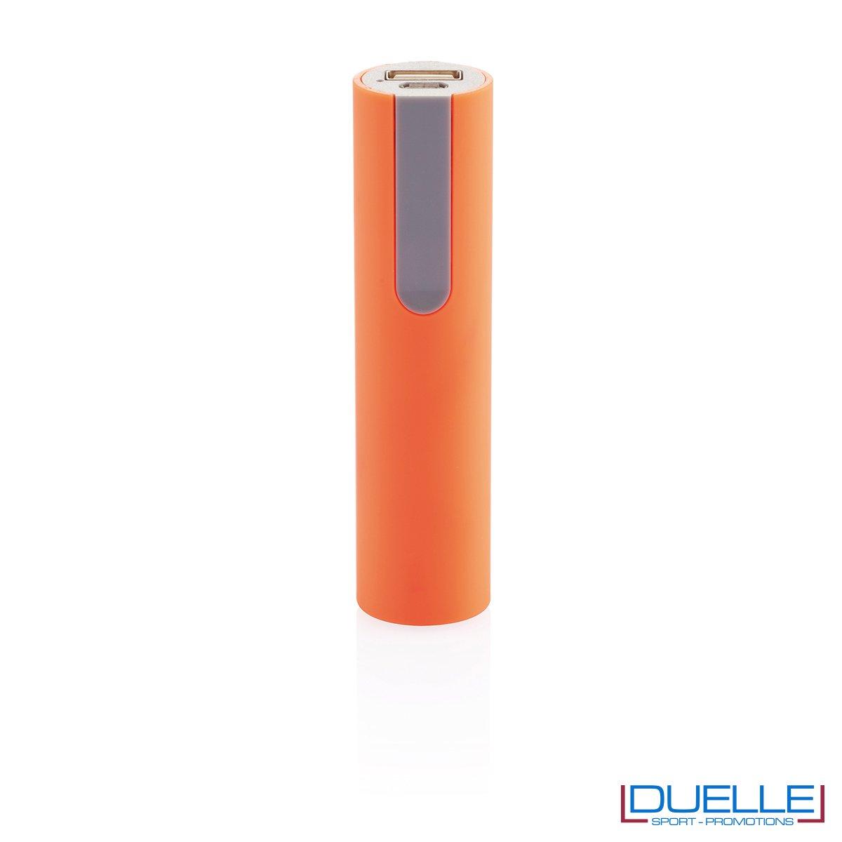 power bank personalizzato soft touch arancione