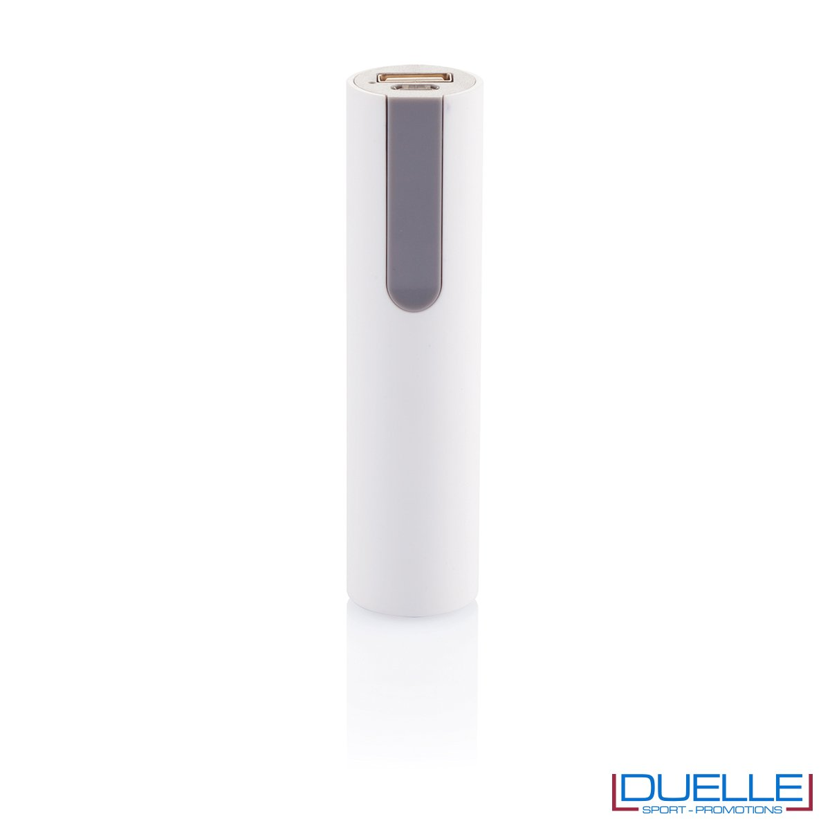 power bank personalizzato soft touch bianco