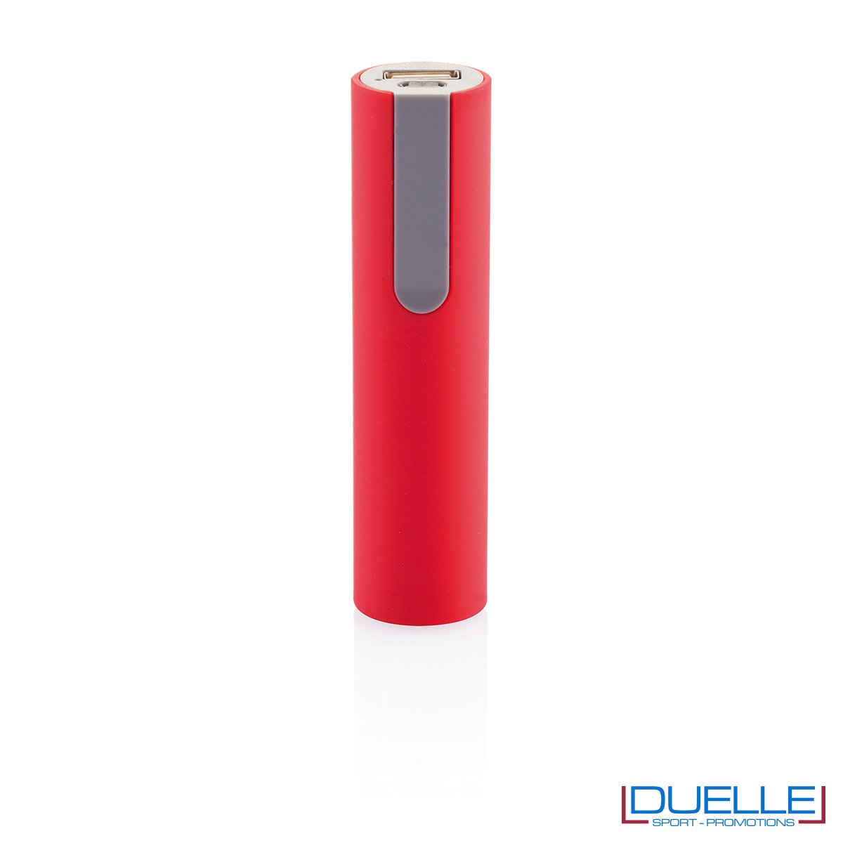 power bank personalizzato soft touch rosso