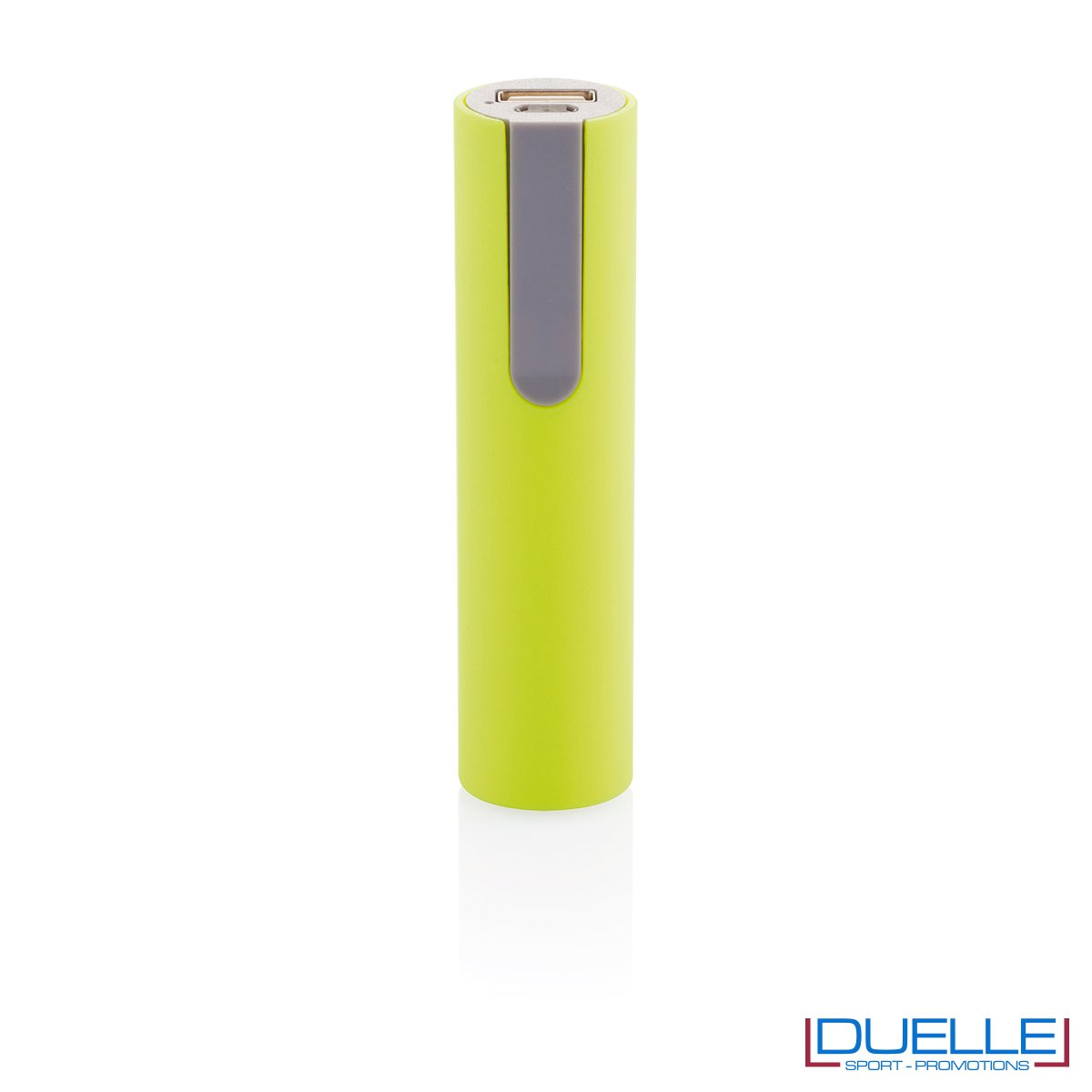 power bank personalizzato soft touch verde acido