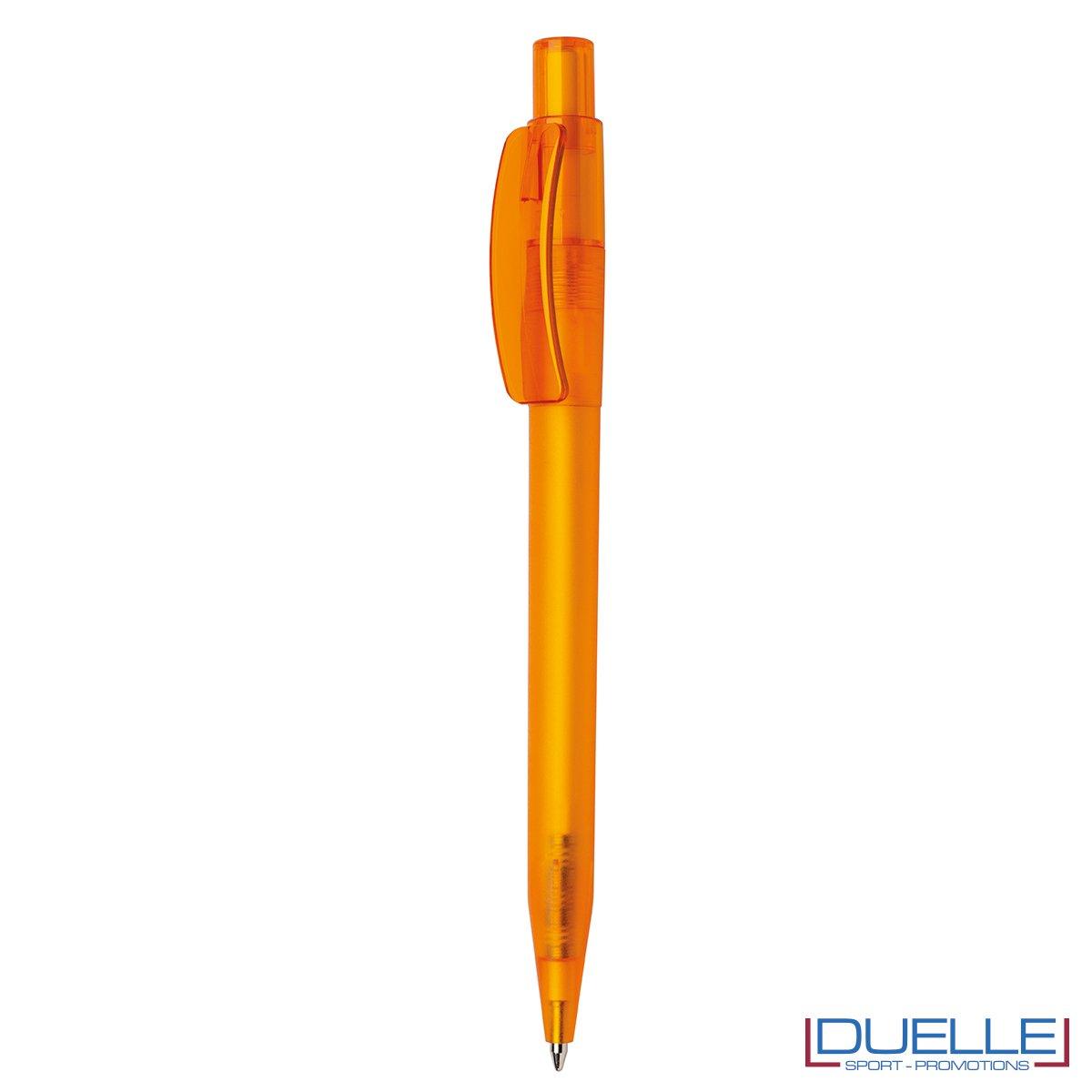 Penna Made in Italy personalizzata arancione effetto frost, gadget aziendali, penne personalizzate, gadget personalizzati, articoli promozionali