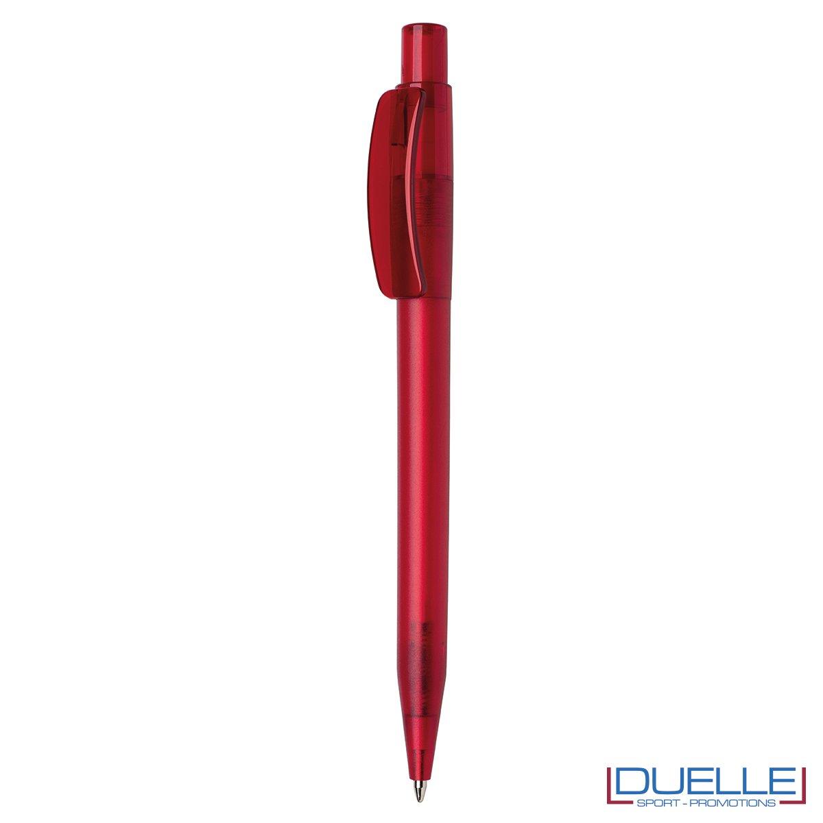 Penna Made in Italy personalizzata rosso effetto frost, gadget aziendali, penne personalizzate, gadget personalizzati, articoli promozionali