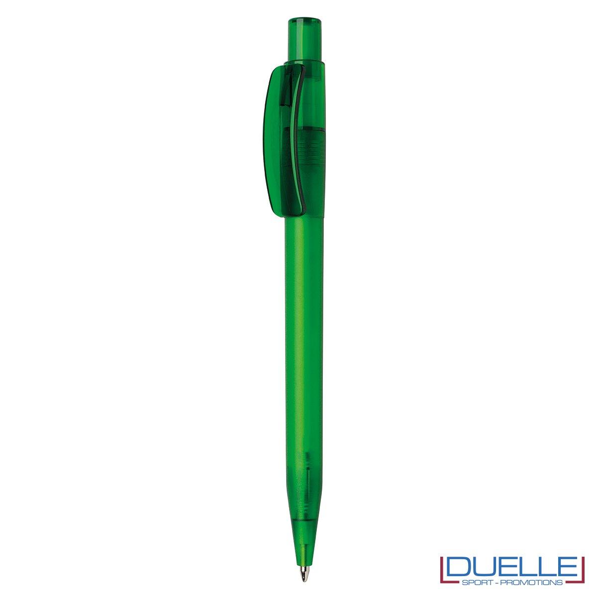 Penna Made in Italy personalizzata verde effetto frost, gadget aziendali, penne personalizzate, gadget personalizzati, articoli promozionali