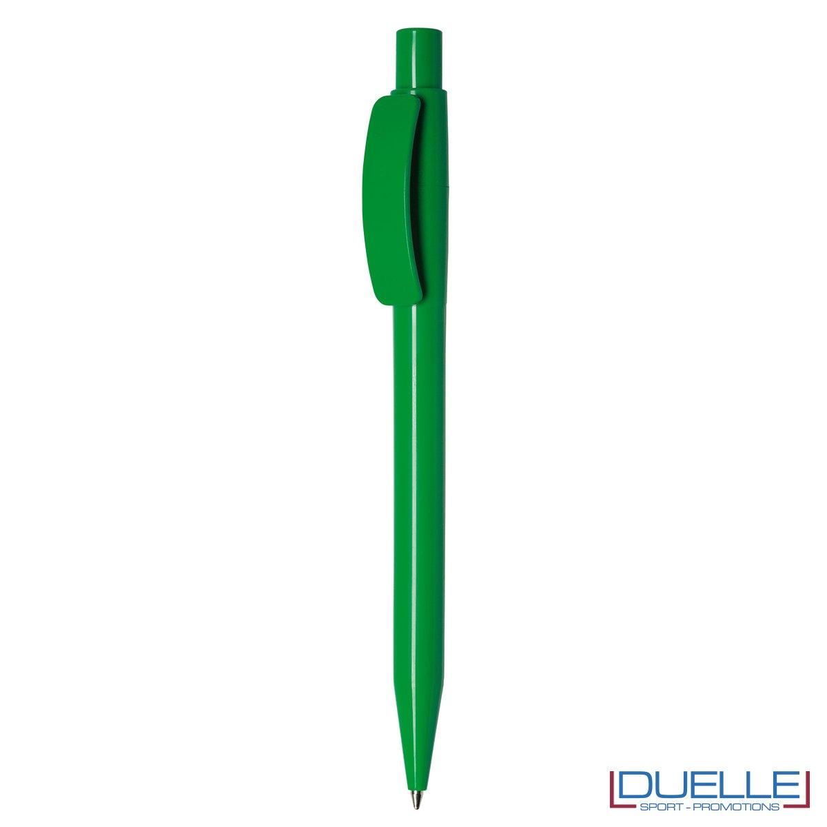 Penna Made in Italy personalizzata fusto verde, gadget aziendali, penne personalizzate, gadget personalizzati, articoli promozionali
