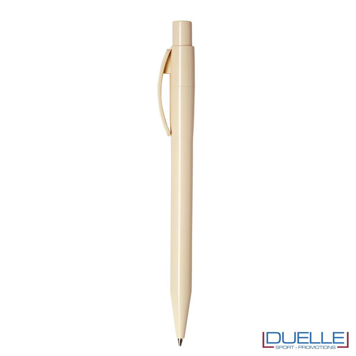 Penna Made in Italy personalizzata fusto panna, gadget aziendali, penne personalizzate, gadget personalizzati, articoli promozionali