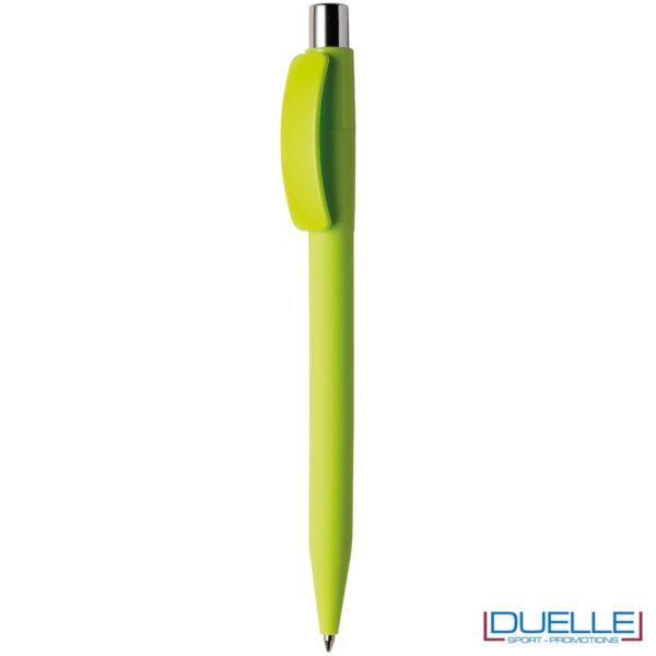 Penna Made in Italy personalizzata lime effetto gommato, gadget aziendali, penne personalizzate, gadget personalizzati, articoli promozionali
