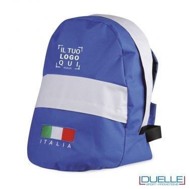 zainetto personalizzato con bandiera italiana tricolore e scritta italia, gadget mondiali calcio personalizzati