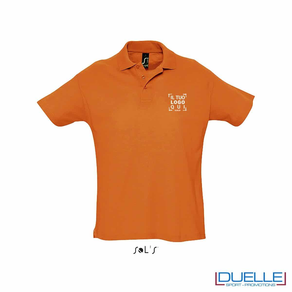 polo personalizzata colore arancione, polo piquet personalizzata