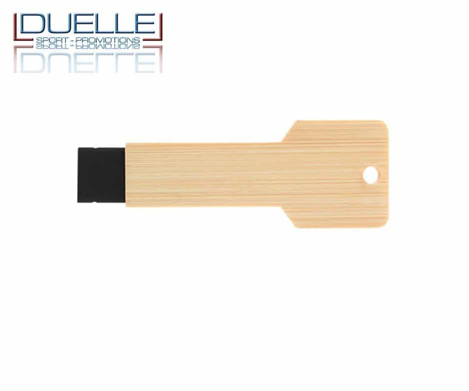 Chiavetta USB ecologica personalizzata in legno chiaro con stampa colori